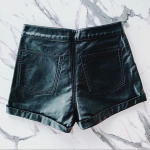 H&M Black Leather Shorts